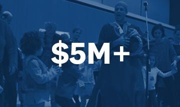 $5 Million +