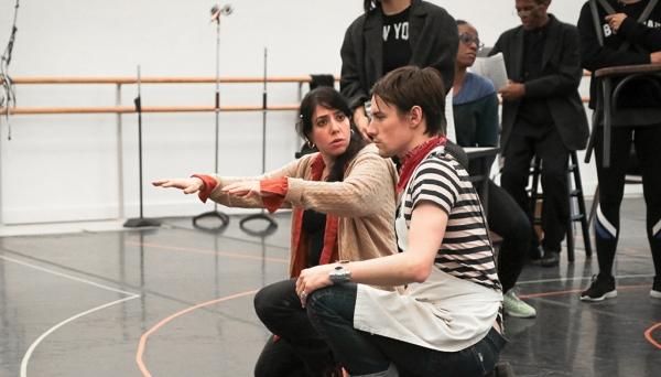 Rachel Chavkin teaching theater workshop