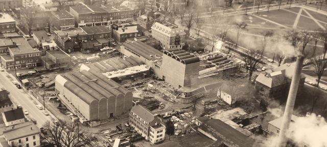 Aerial View of the Hop during construction