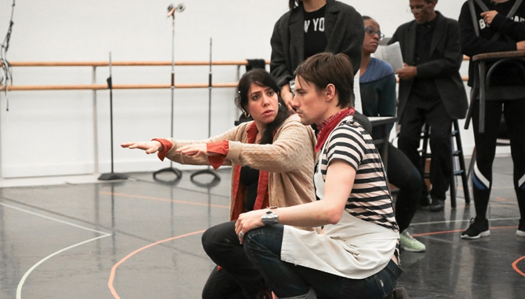 Rachel Chavkin teaching theater workshop