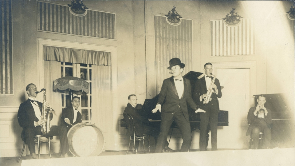 The Barbary Coast Five playing in 1920