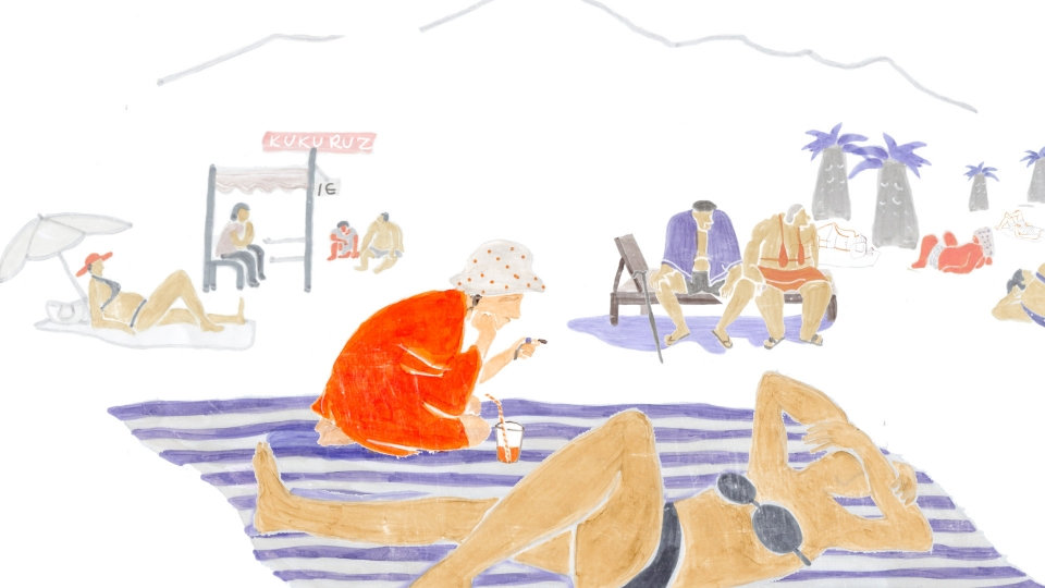 Beach Scene from Five Minutes to the Sea short