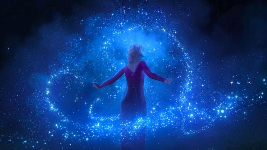 Elsa with magical ice swirl - Frozen 2 - Hop Film