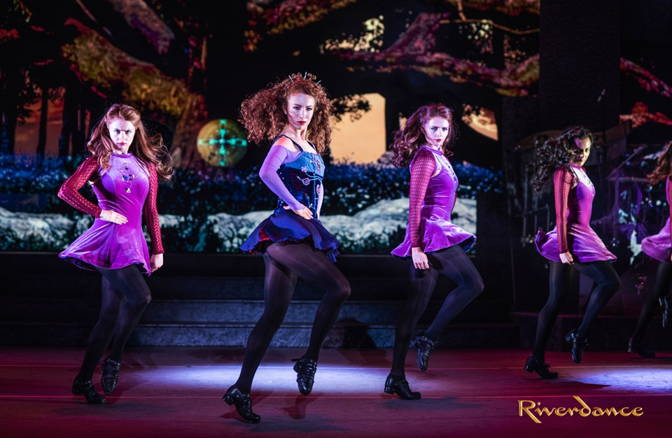 Riverdance dancers on stage