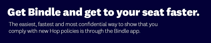Get Bindle and get to your seat faster.