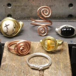 Twisted Wire Rings - Jewelry