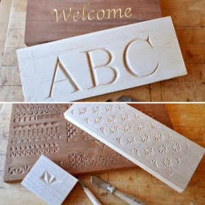 Chip Carving and Letter Carving